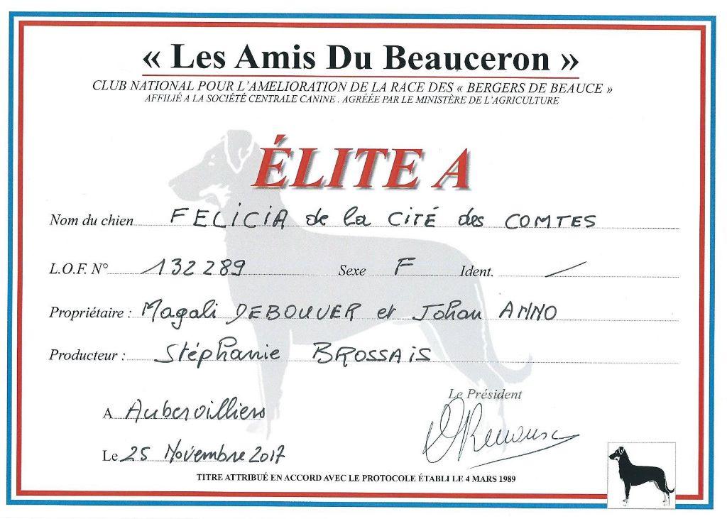 L'ami De La Campagne - C'est officiel...Félicia est ELITE A!!!!!!!!!