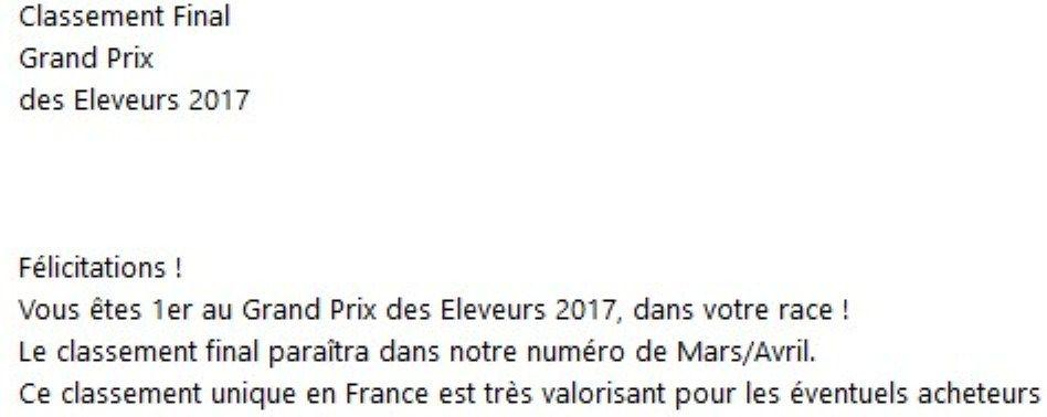 Des Brumes De Kalhan - MEILLEUR ELEVAGE 2017 !!