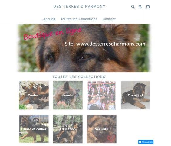 Des Terres D'Harmony - Boutique en ligne accessoires canins
