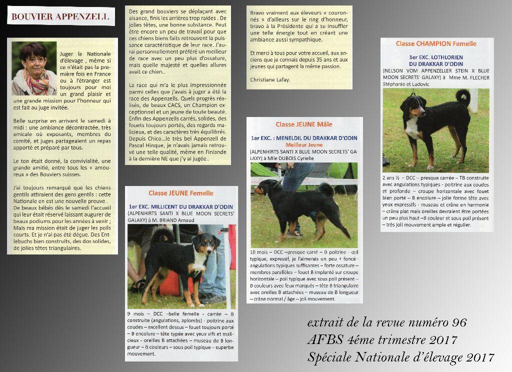 du Drakkar d'Odin - Mot de la Juge de la Nationale d'élevage AFBS 2017