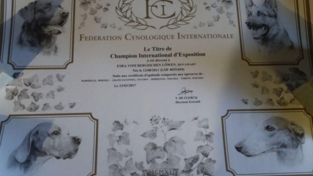 De L'Emeraude Des Alpes - Esra Champion International d'Exposition