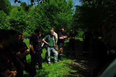 Des seigneurs de montbel - formation des sapeurs  pompiers animalier