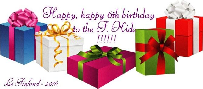 du Finfond - Les F. Kids ont 6 ans!!