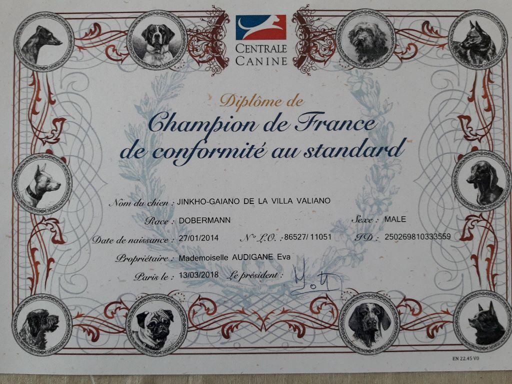 de la Croix d'Atal - Jinkho est Champion de France