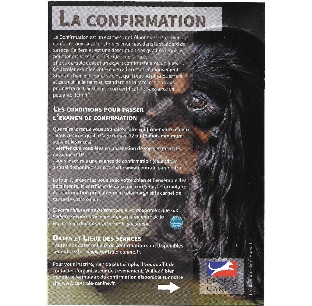 Golatière du Trépont - LA CONFIRMATION
