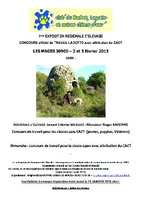 Golatière du Trépont - Concours truffes lagotto