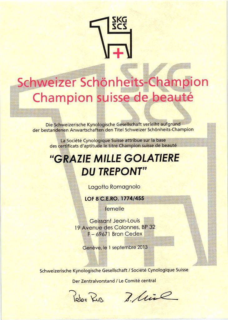 Grazie mille Golatière du Trépont