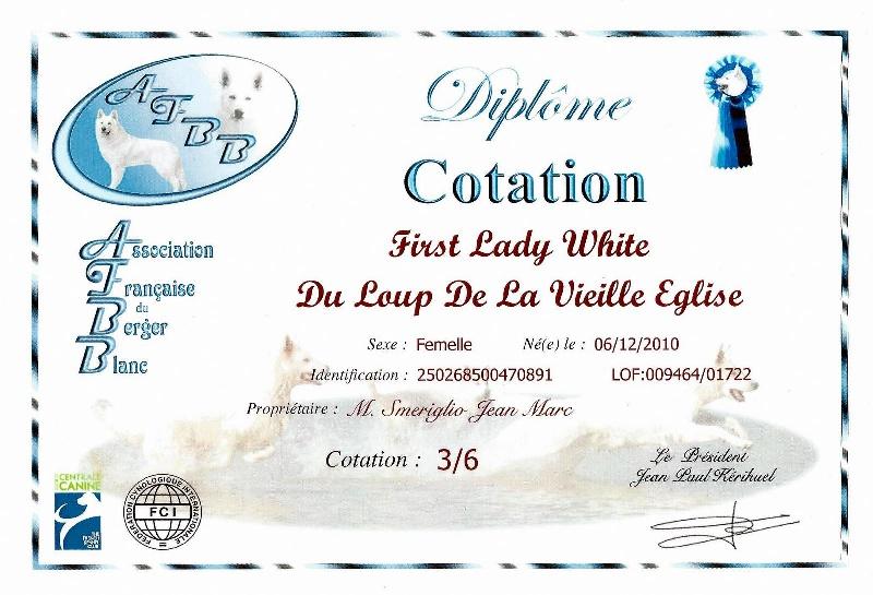 First  lady  white du Loup de la Vieille Eglise